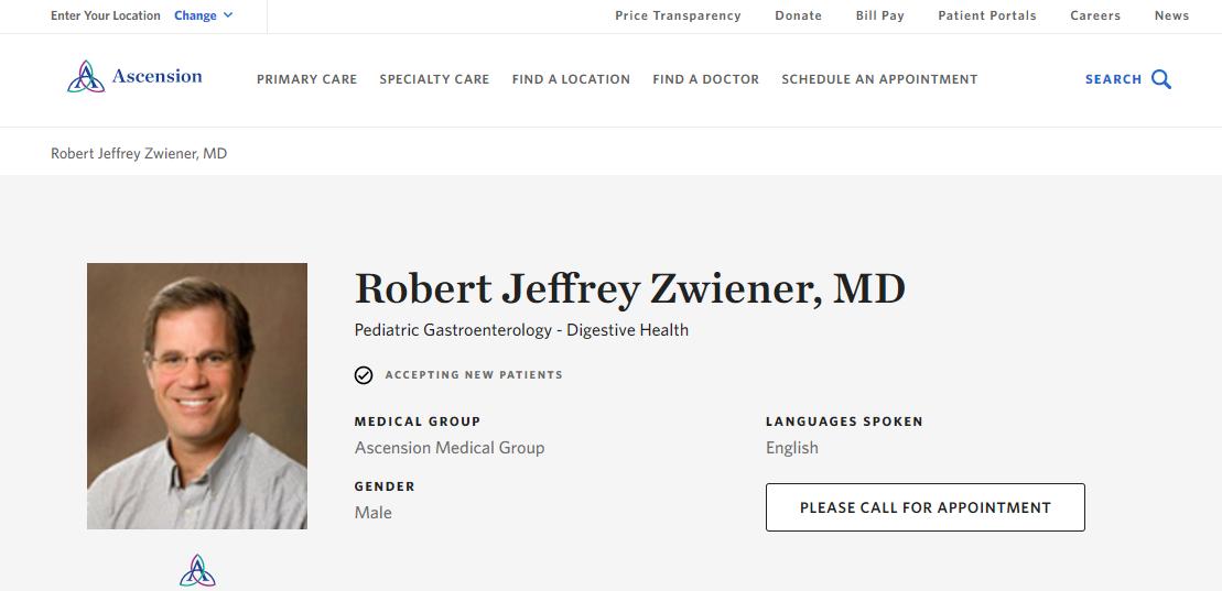 Robert Jeffrey Zwiener, MD