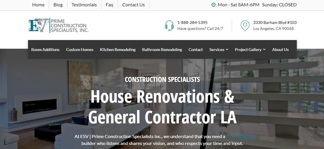 ESV Prime Construction Specialists, Inc.