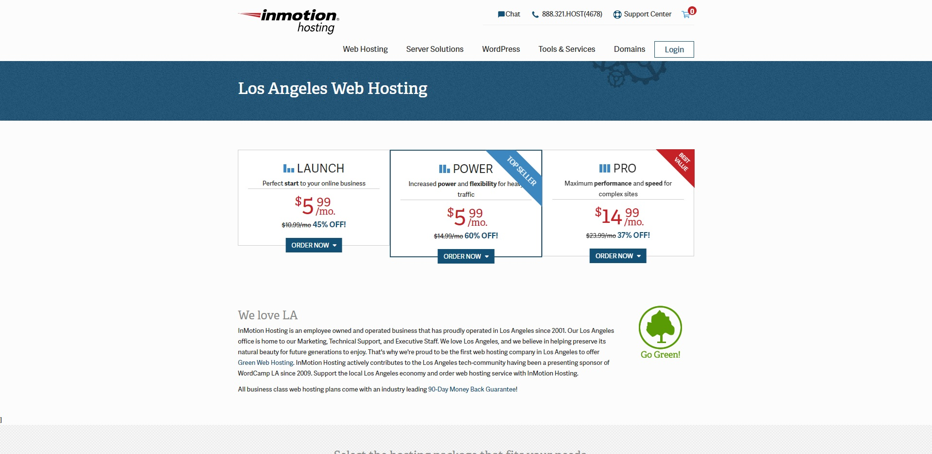 Best Web Hosting in Los Angeles