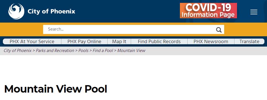 phoenix best public swimming pool