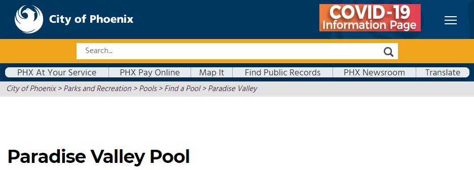 swimming pool in phoenix
