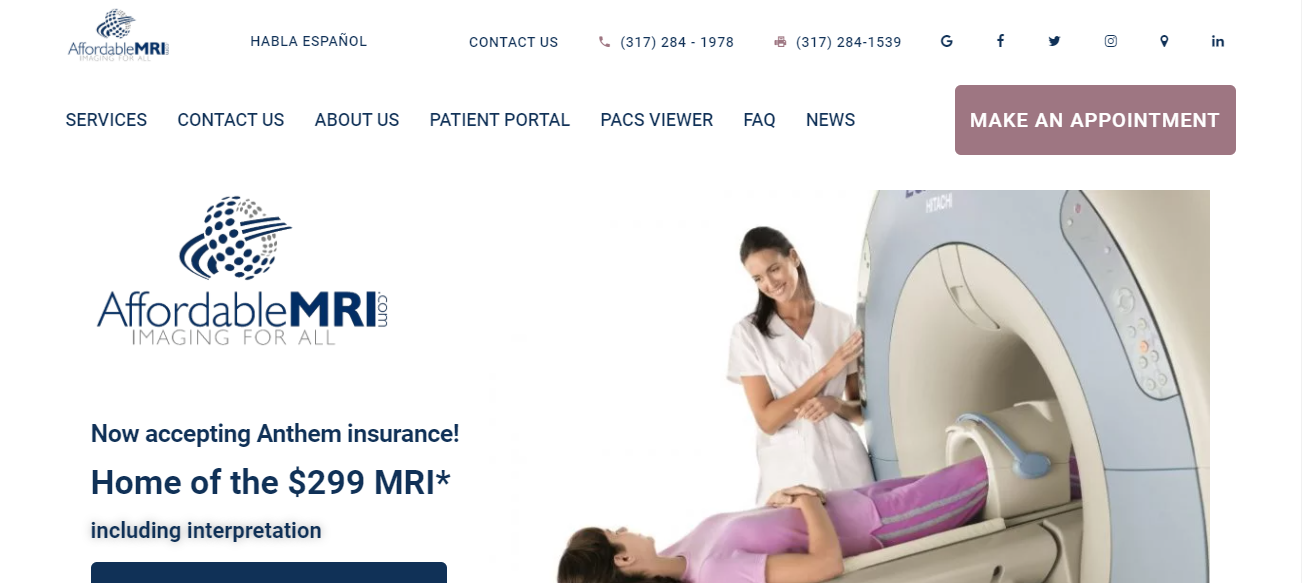 AffordableMRI in Indianapolis, Indiana