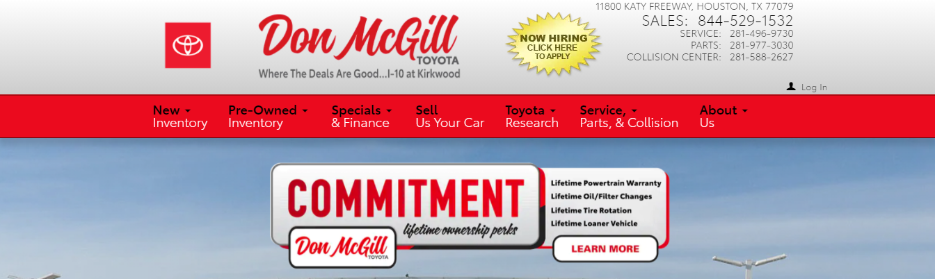best dealerships of toyota vehicles in Houston, TX