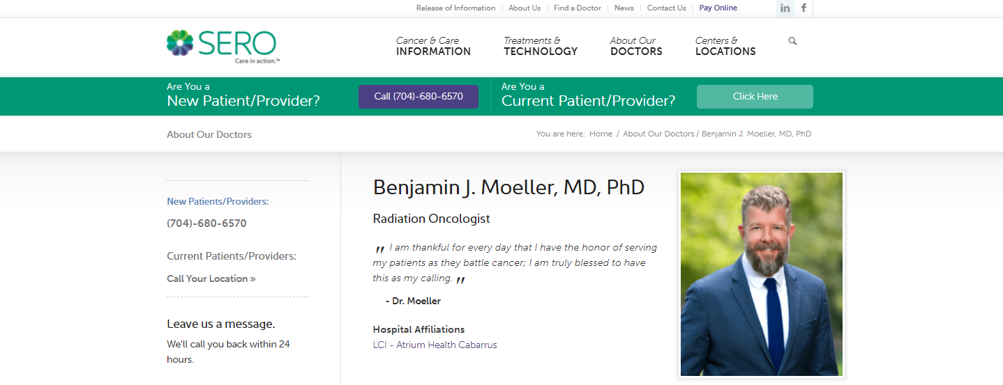 Benjamin J. Moeller MD, PhD
