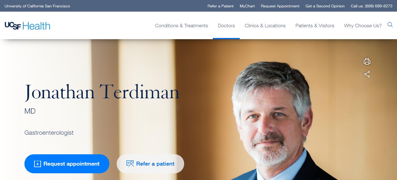 Dr. Jonathan Terdiman in San Francisco, CA