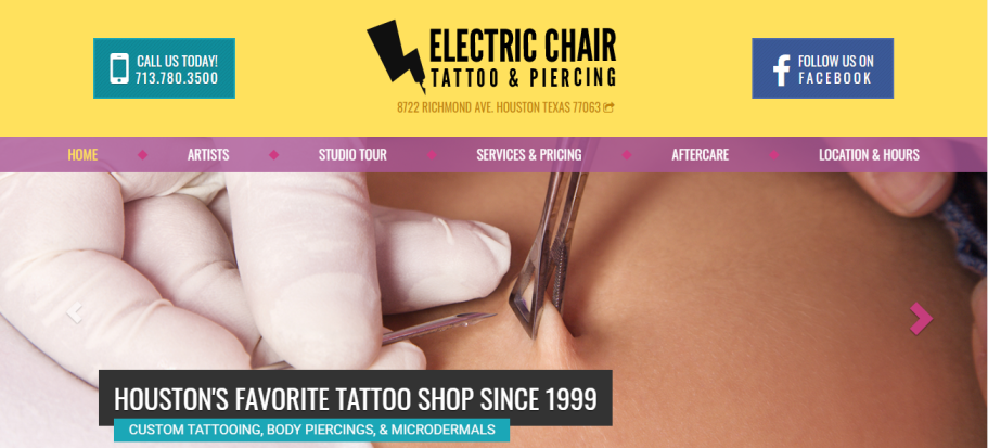 Electric Chair Tattoo & Piercing in Houston, TX