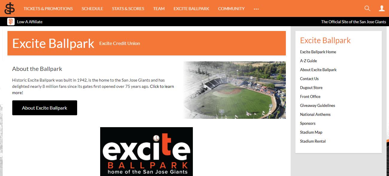 Excite Ballpark in San Jose, CA