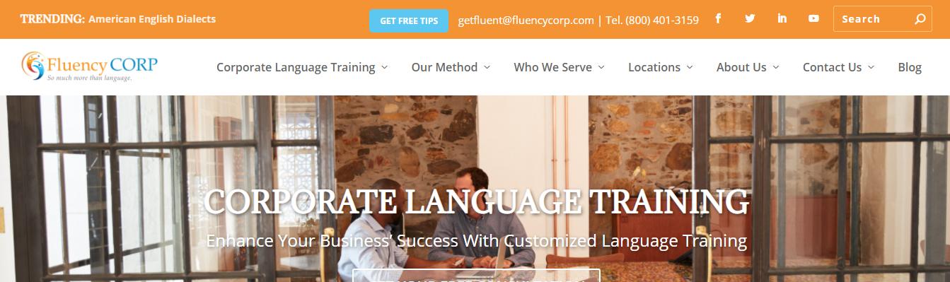 corporate language training centers in Dallas, TX