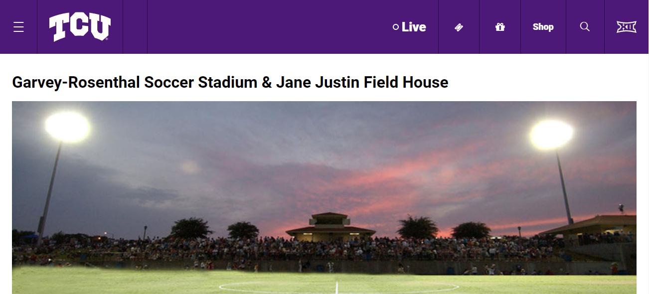 Garvey-Rosenthal Soccer Stadium in Fort Worth, TX