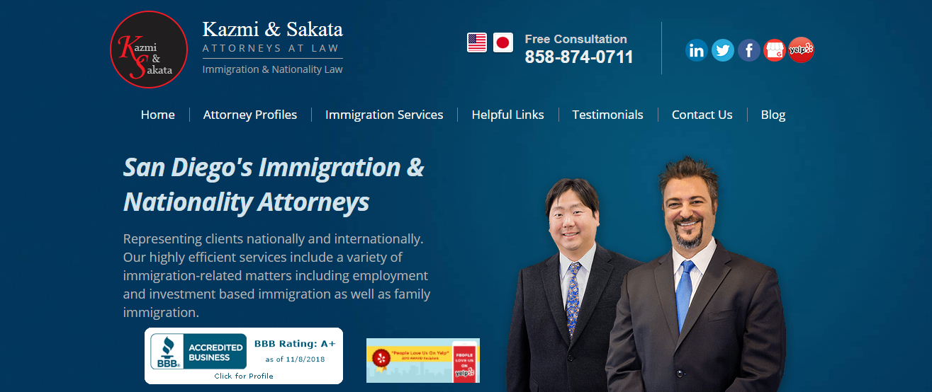 Kazmi and Sakata Attorneys at Law - Immigration and Nationality Law