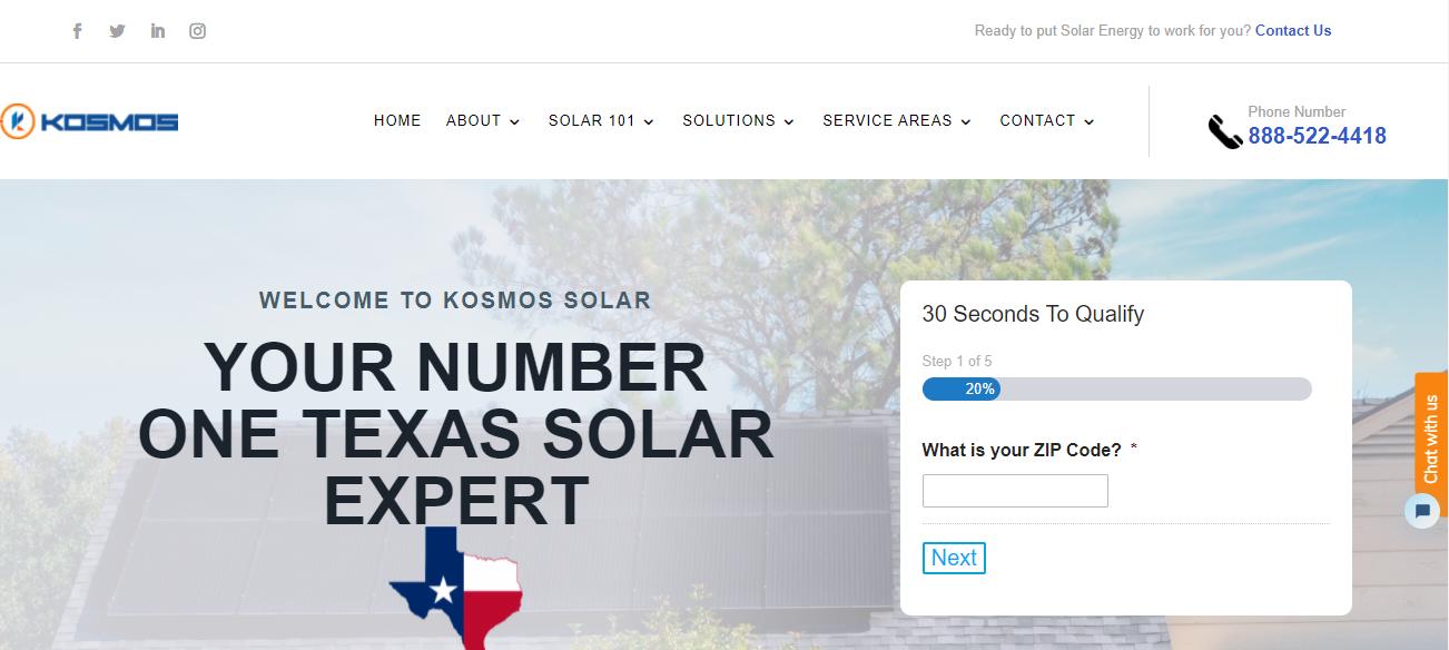 Kosmos Solar in Dallas, TX