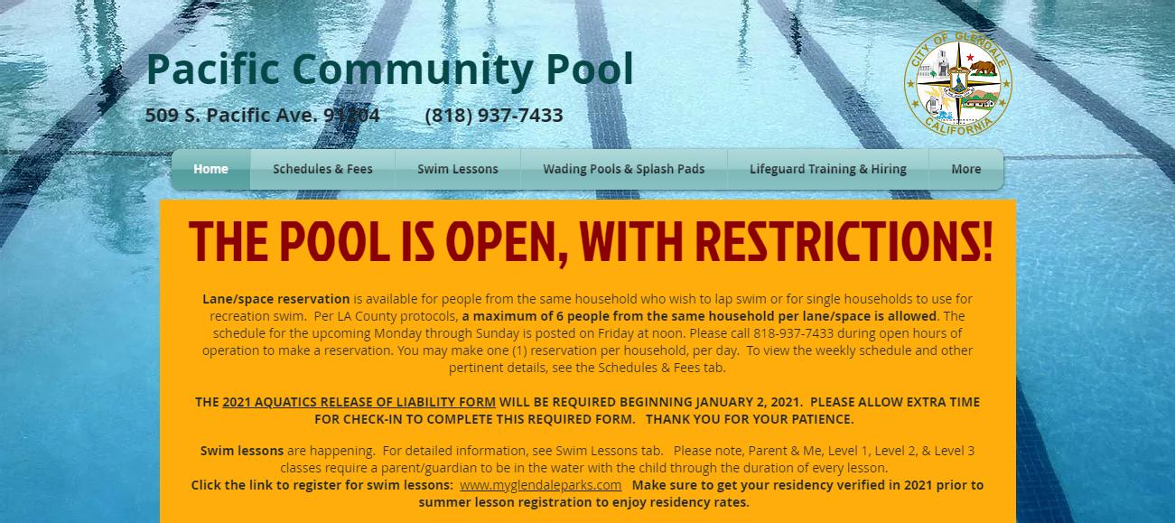 Pacific Community Pool in Los Angeles, CA