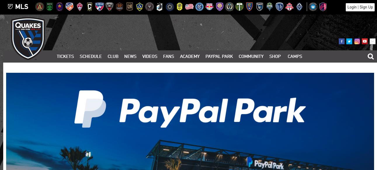 PayPal Park in San Jose, CA