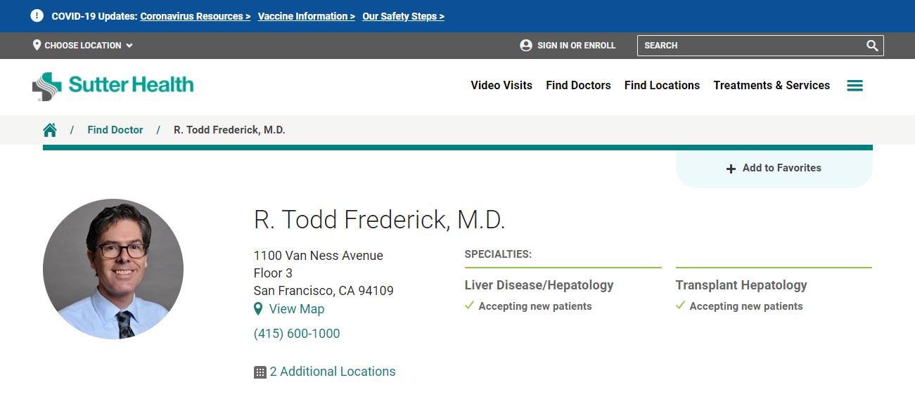 R. Todd Frederick, M.D. in San Francisco, CA