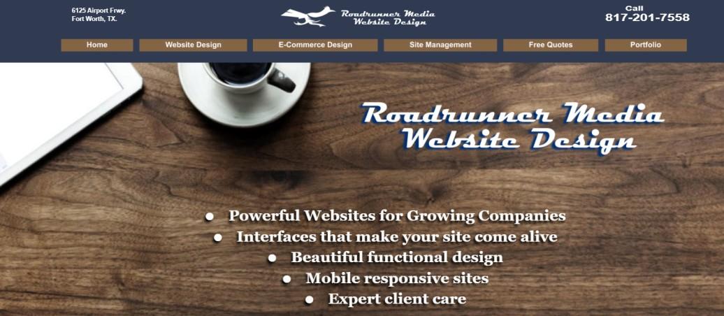 Roadrunner Media Website Design