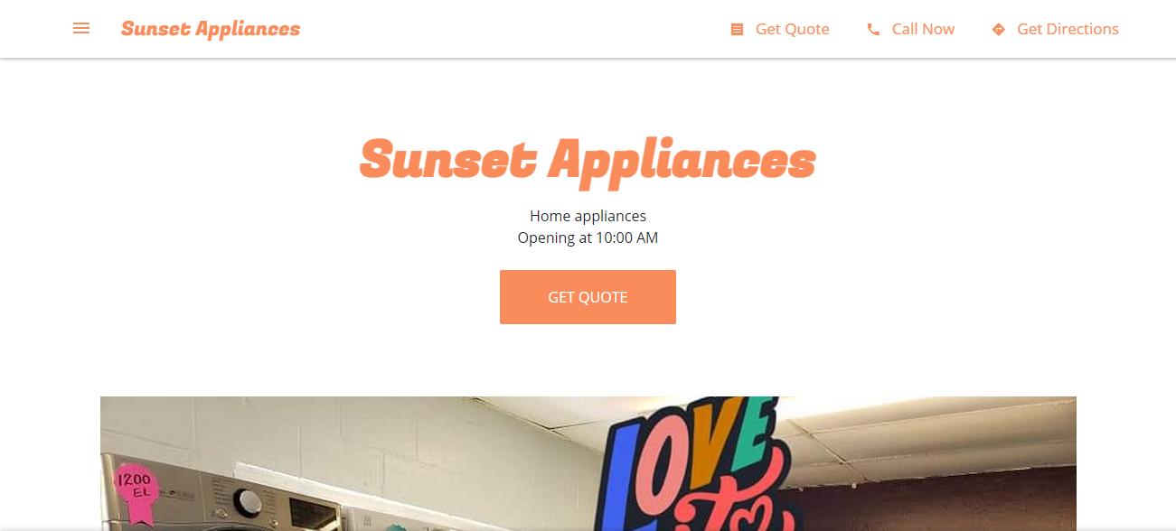 Sunset Appliances in Houston, TX