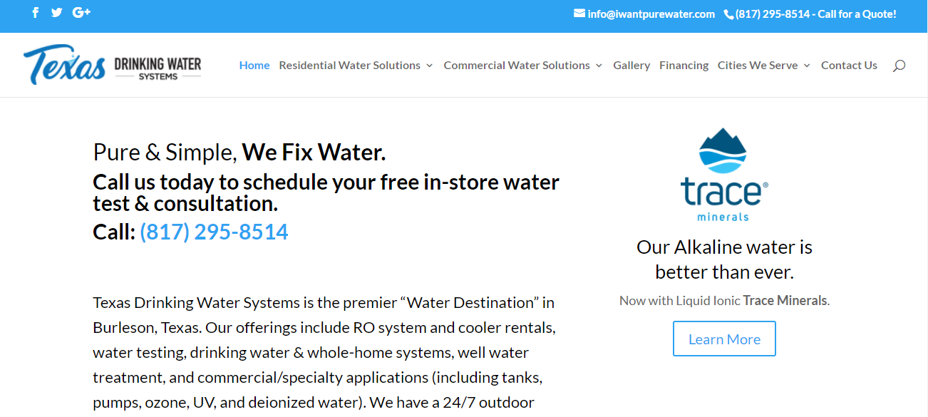 Texas Drinking Water Systems in Fort Worth, TX