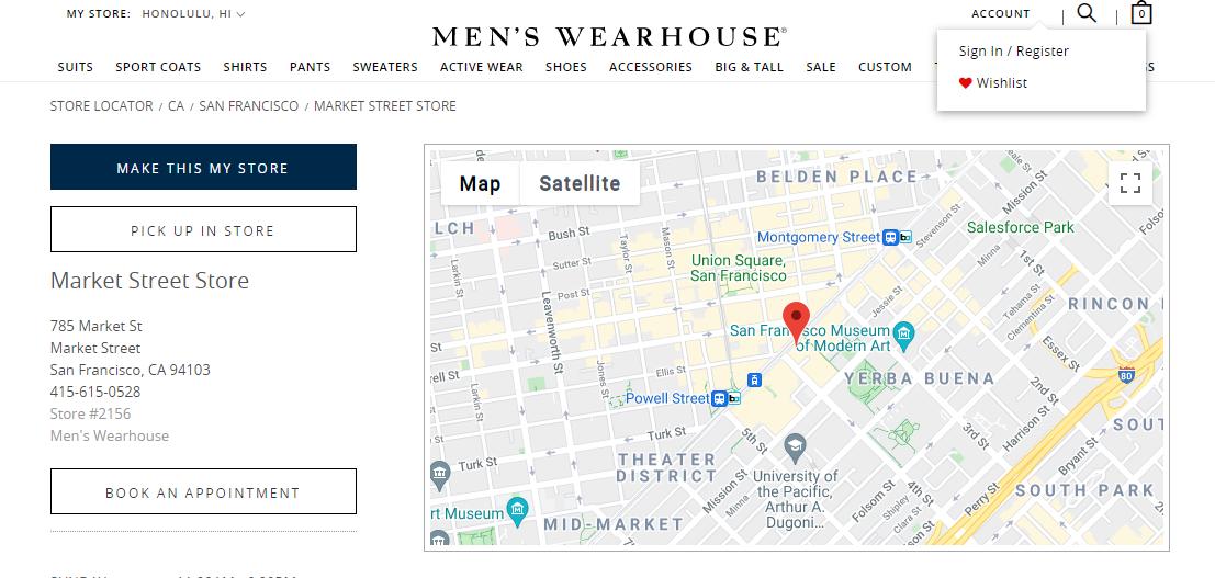 Wearhouse for men
