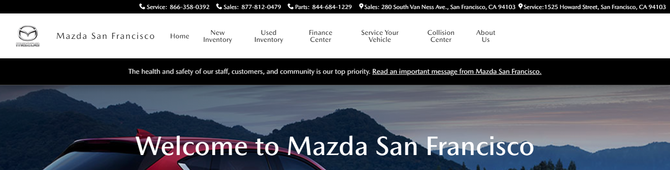 new and used Mazda vehicles in San Francisco, CA
