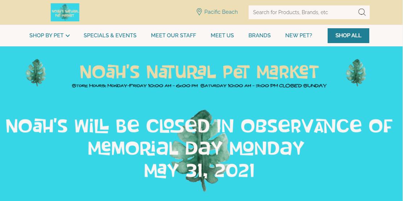 Noah's Natural Pet Market