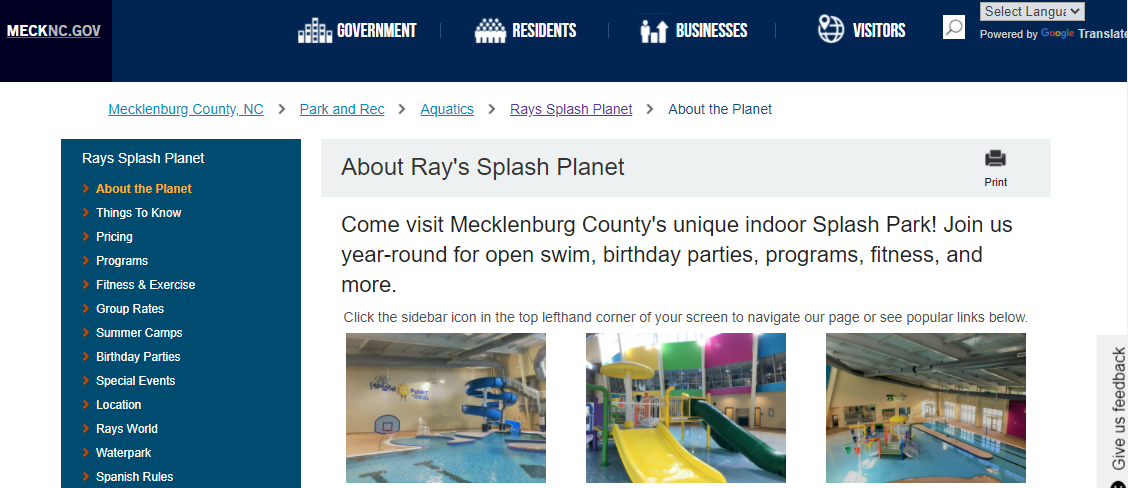 Ray's Splash Planet