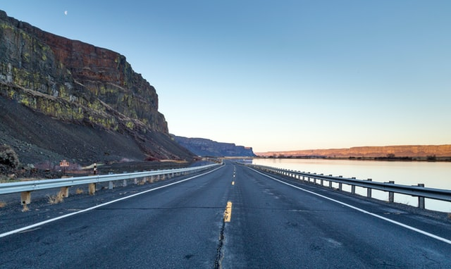 A highway in the US with guardrail barrier from a top provider.