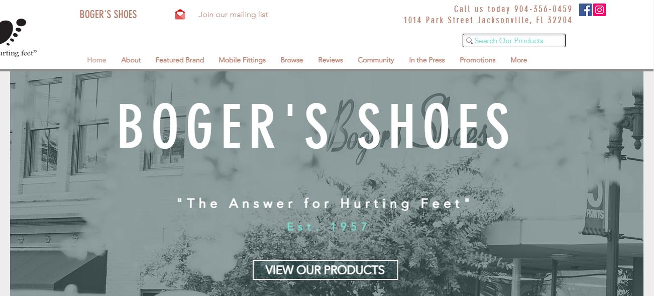 Boger's Shoes in Jacksonville, FL