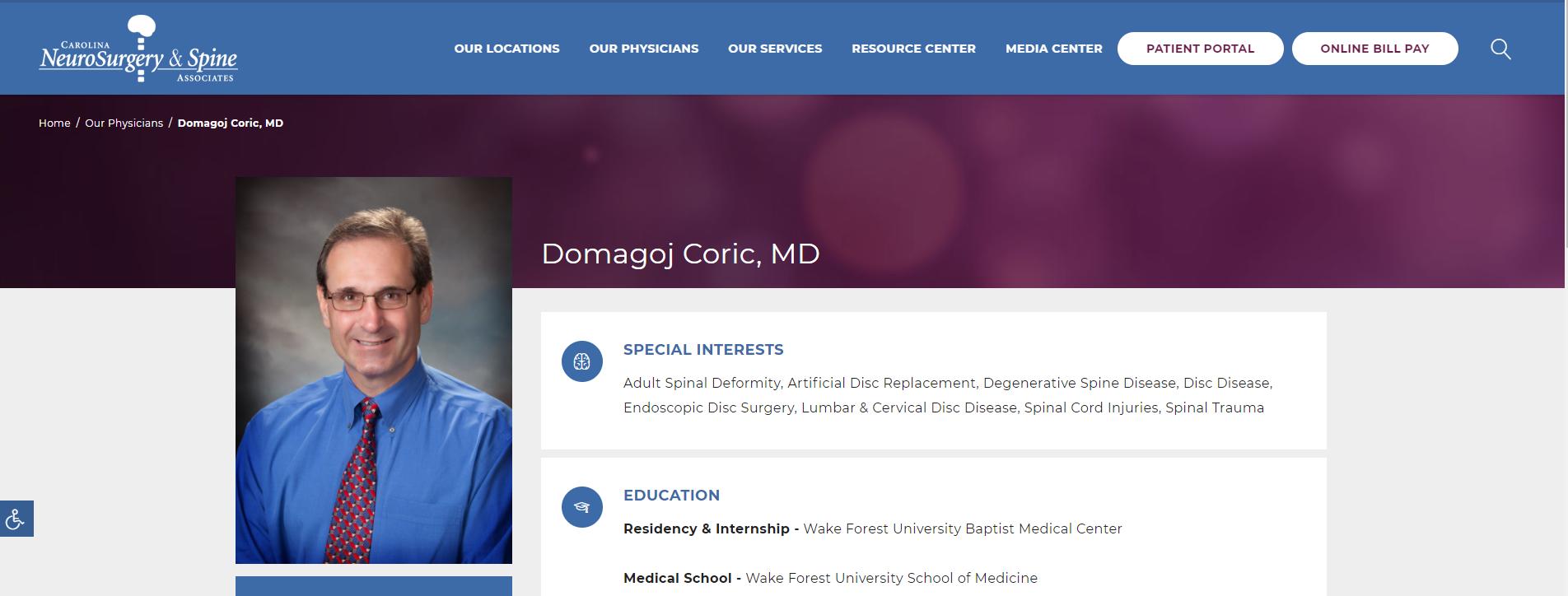 Domagoj Coric, MD