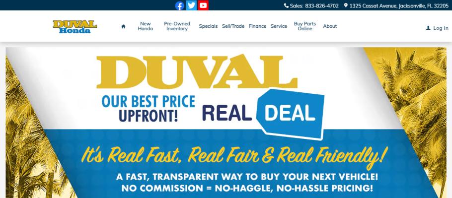Duval Honda in Jacksonville, FL