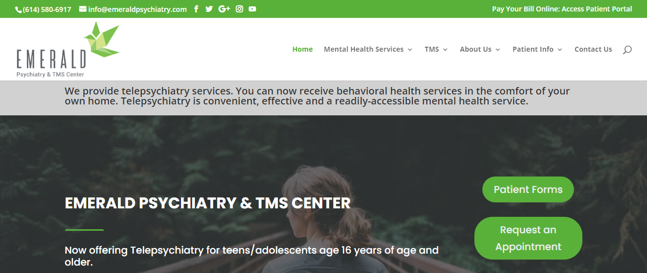 Emerald Psychiatry & TMS Center in Columbus, OH
