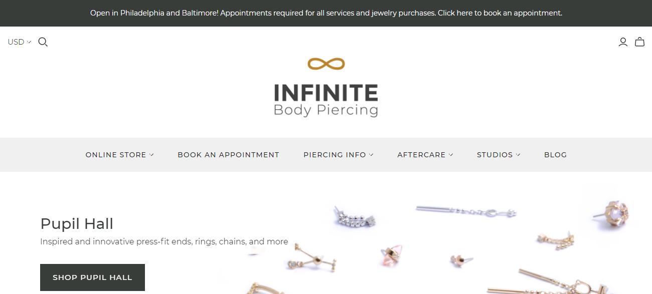Infinite Body Piercing in Philadelphia, PA