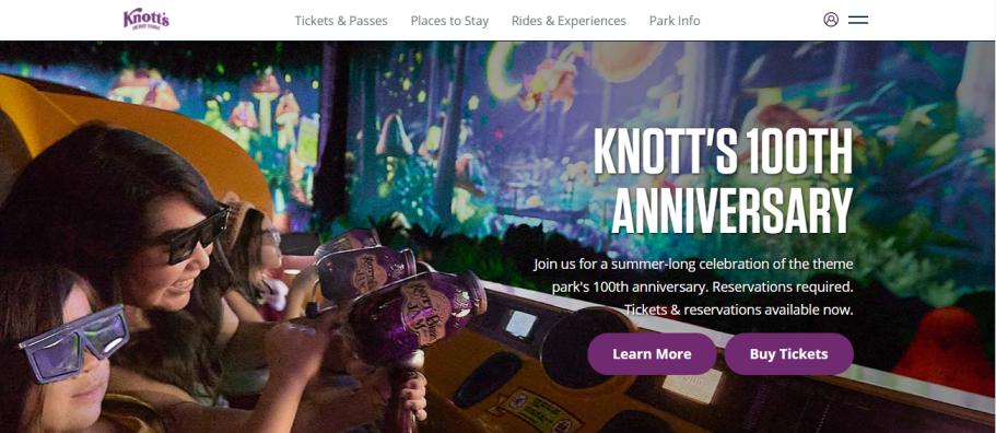 Knott's Berry Farm in Los Angeles, CA