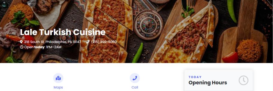 Lale Turkish Cuisine in Philadelphia, PA