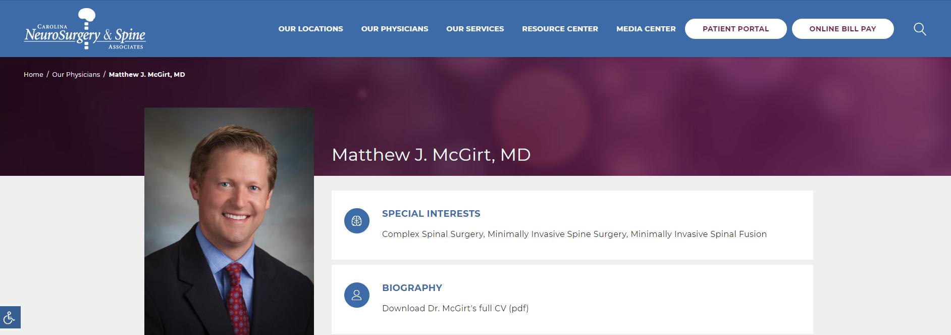 Matthew J. McGirt, MD