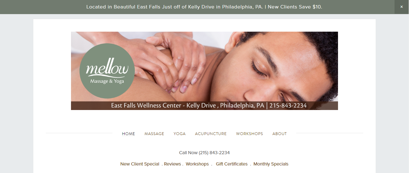 Mellow Massage and Yoga in Philadelphia, PA