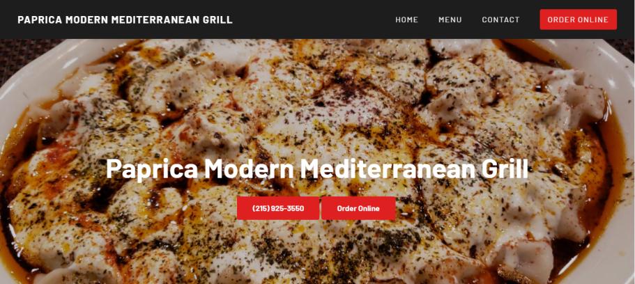 Paprica Modern Mediterranean Grill in Philadelphia, PA