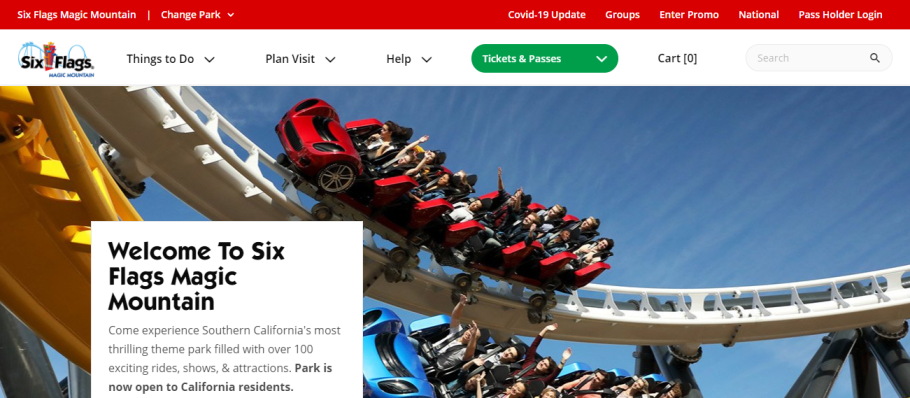 Six Flags Magic Mountain in Los Angeles, CA
