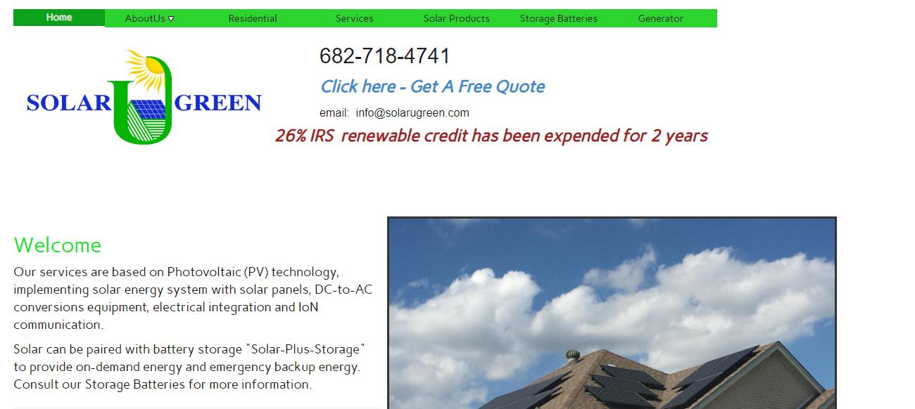 Solarugreen in Fort Worth, TX