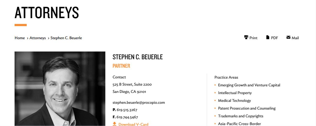 Stephen C. Beuerle in San Diego, CA
