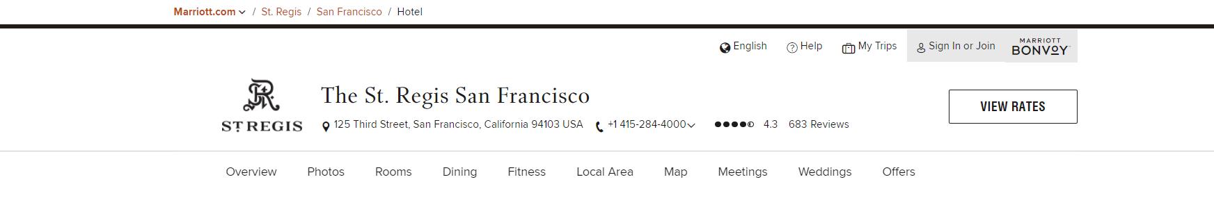 The St. Regis San Francisco