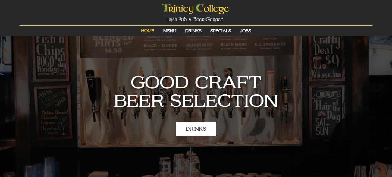 Trinity College Irish Pub in Fort Worth, TX