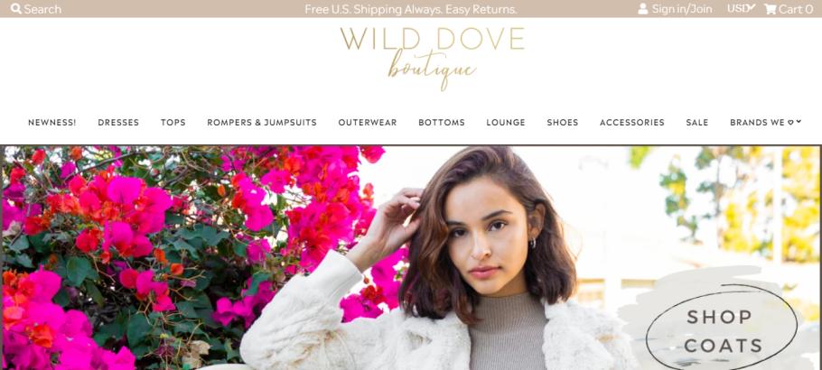 Wild Dove Boutique in San Diego, CA