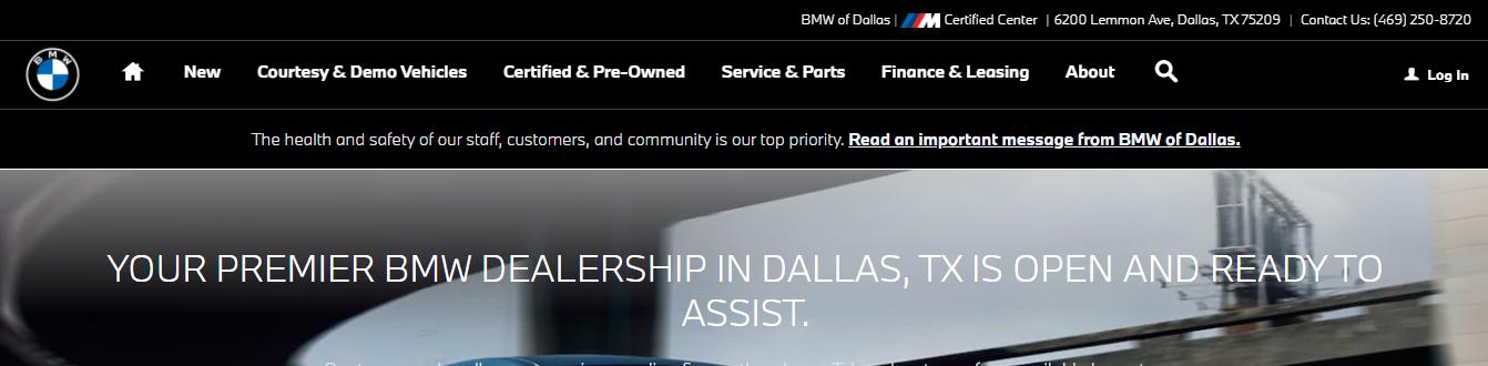 premier BMW dealerships in Dallas, TX