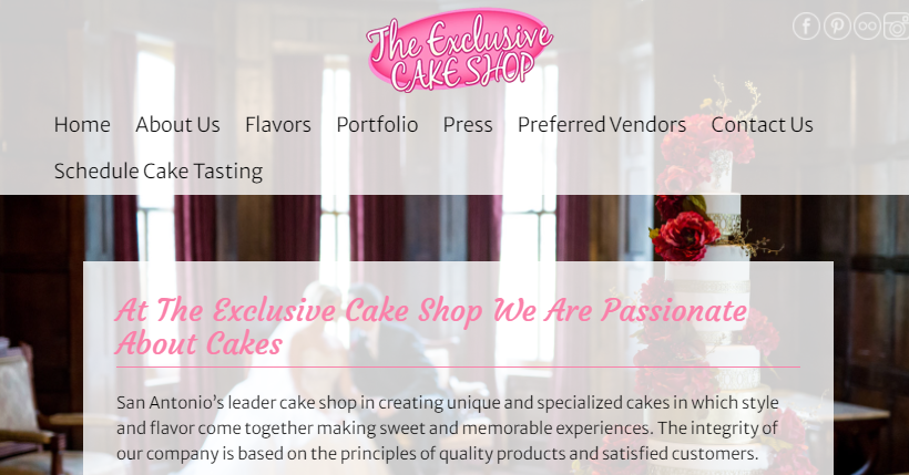 The Exclusive Cake Shop