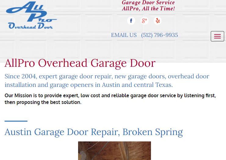 All Pro Overhead Garage Door