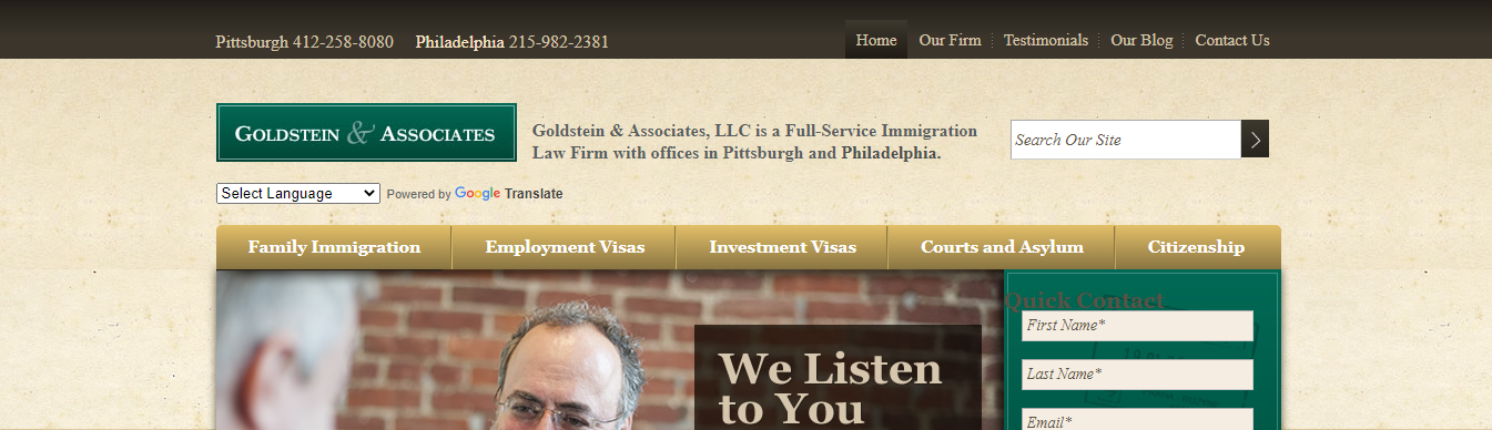 excellent immigration law firms in Philadelphia, PA