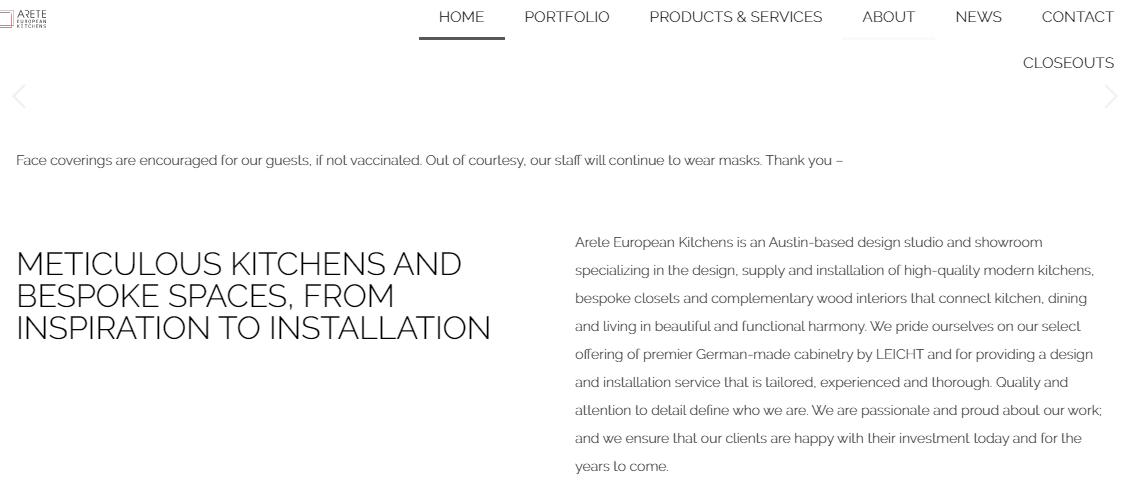 Arete European Kitchens