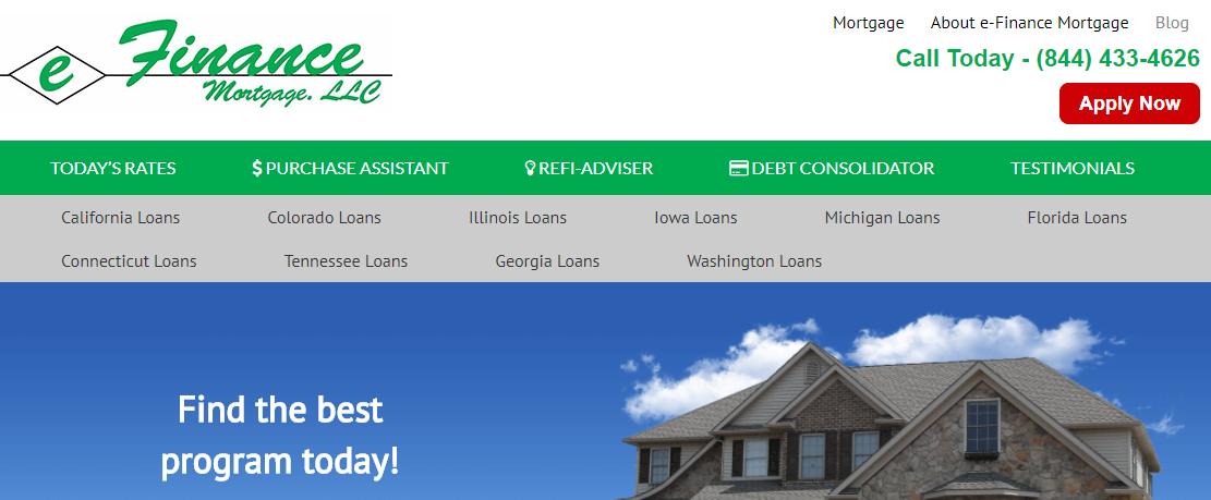e-Finance Mortgage, LLC