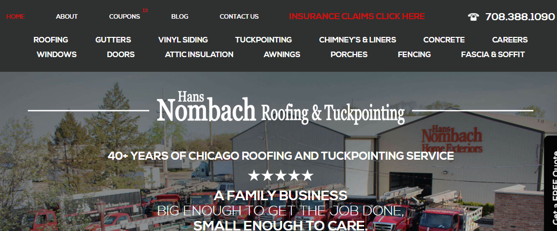 Nombach Roofing and Tuckpointing