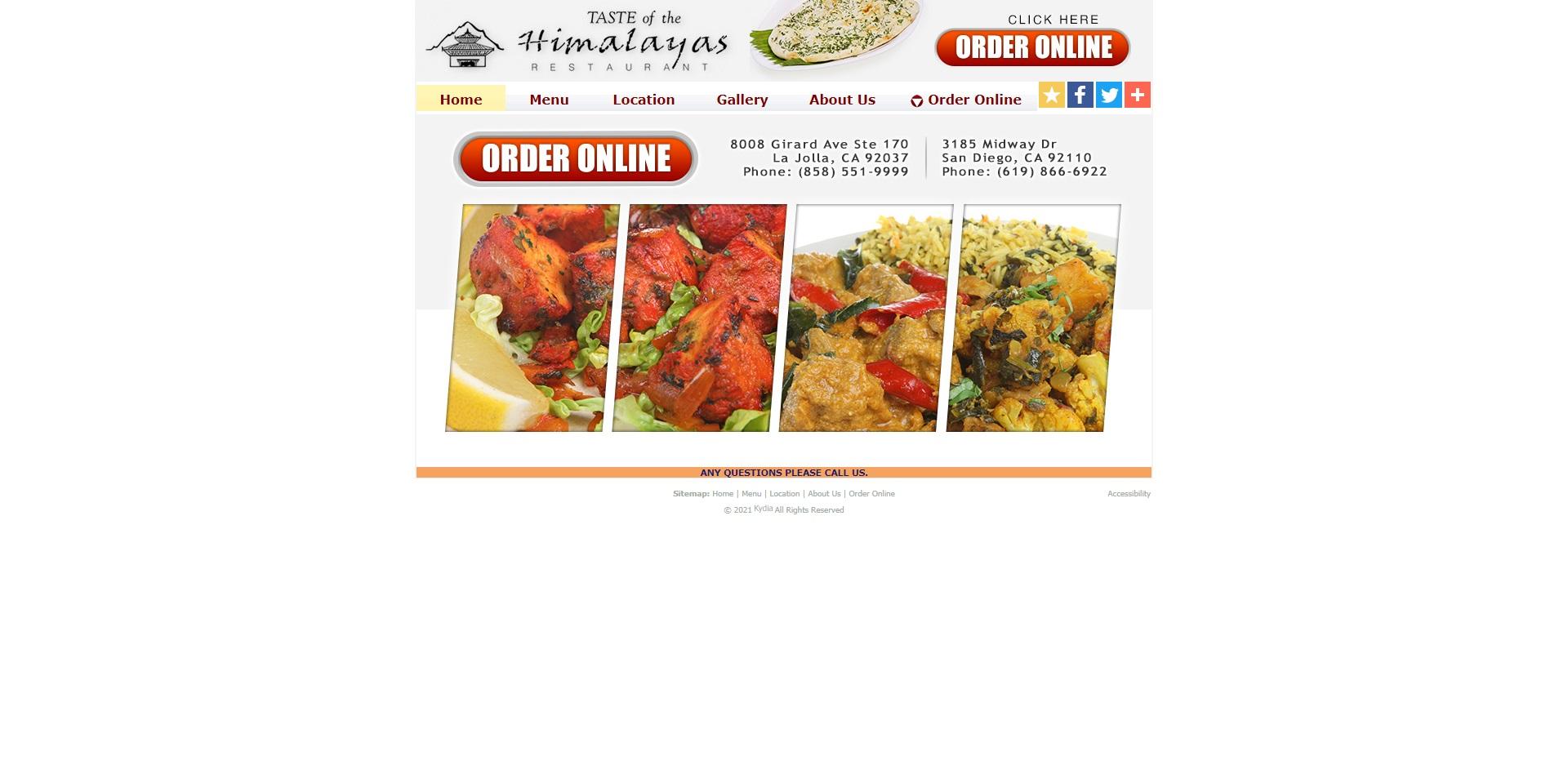 San Diego, CA Best Nepalese Restaurants
